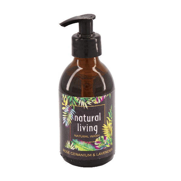 Natural Living Rose Geranium & Lavender Natural Wash