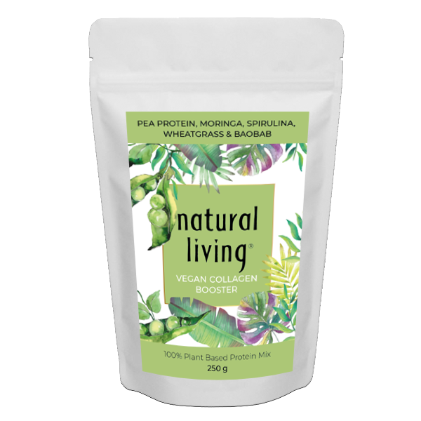 Vegan Collagen Booster With Pea Protein, Moringa, Spirulina, Wheatgrass & Baobab in 250g pouch